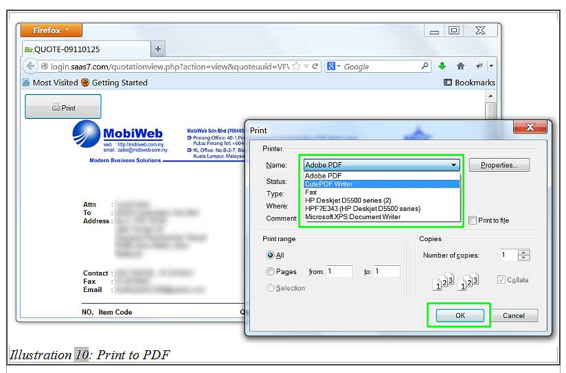 how to install pdf writer