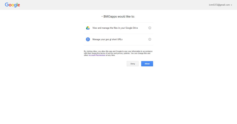 BMO Google Drive Setup